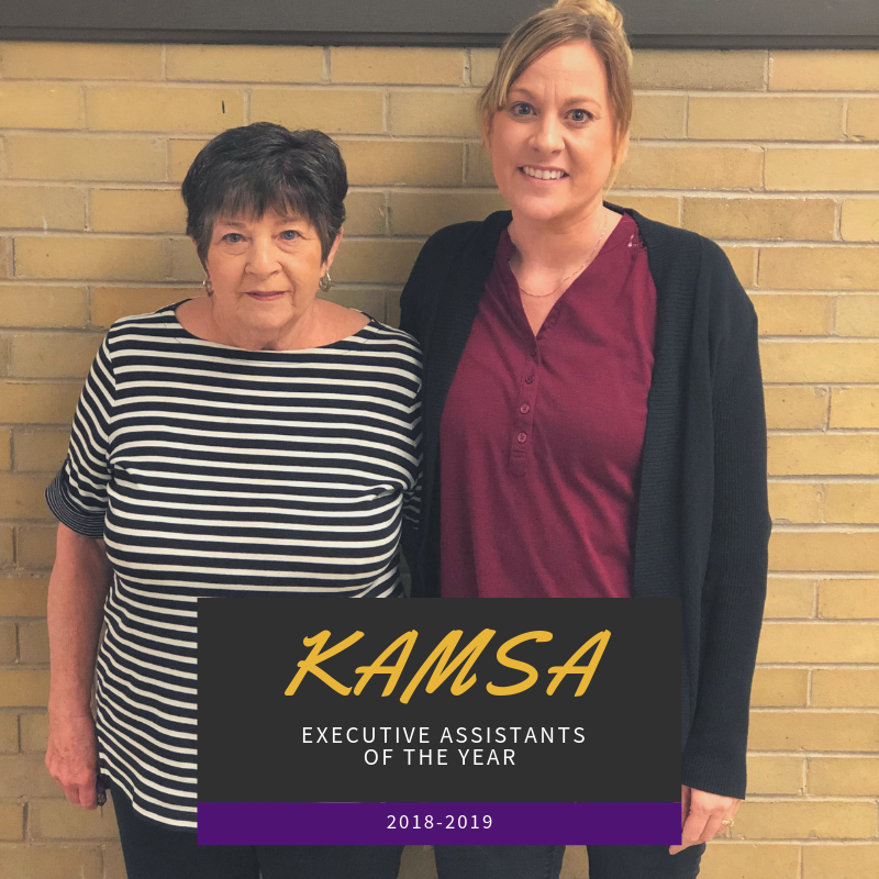 2018-2019 KAMSA Executive Assistants of the Year Award goes to two of ours!