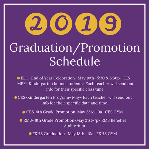 Click here for Graduation details!