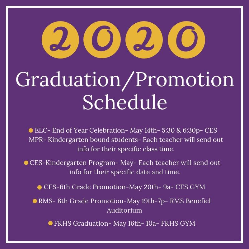 Click here for Graduation Dates & Times!