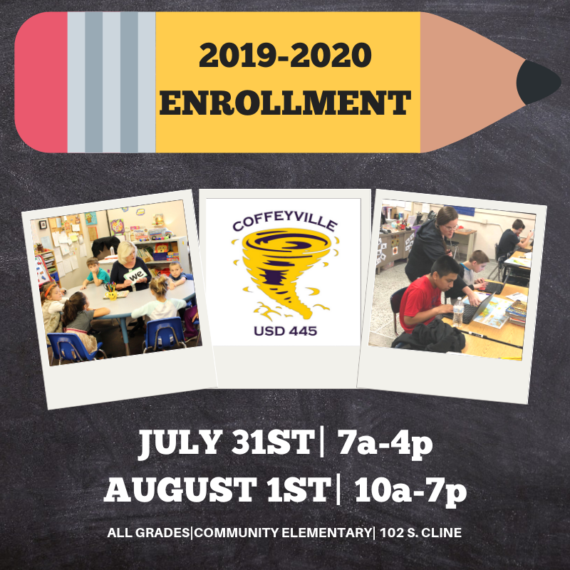 2019-2020 Enrollment Dates!