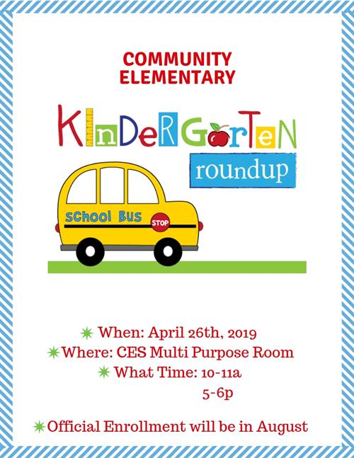 Click here for Kindergarten Roundup Details!