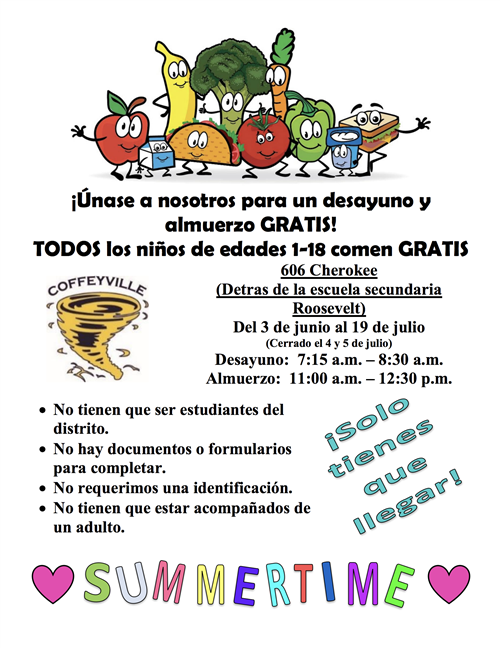 Summer Food Program Spanish