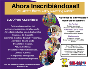 Enrollment Flyer Spanish