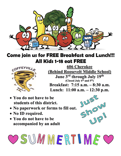 Click Here for Summer Food Program Info!